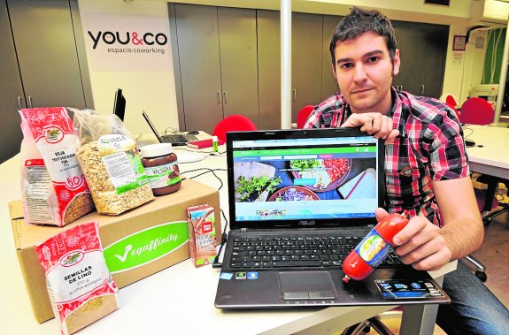 Jesus Cerezuela. Emprendedor que ha creado una plataforma web para vegetarianos