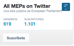 Twitter Parlamentarios UE